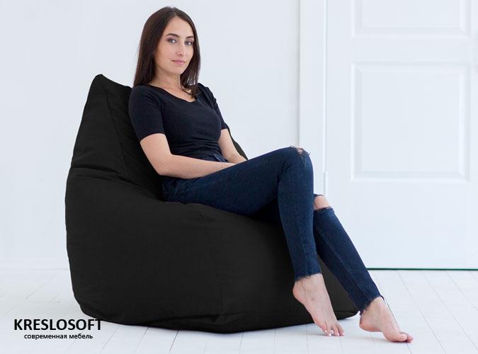 Кресло-мешок Кошка Черный