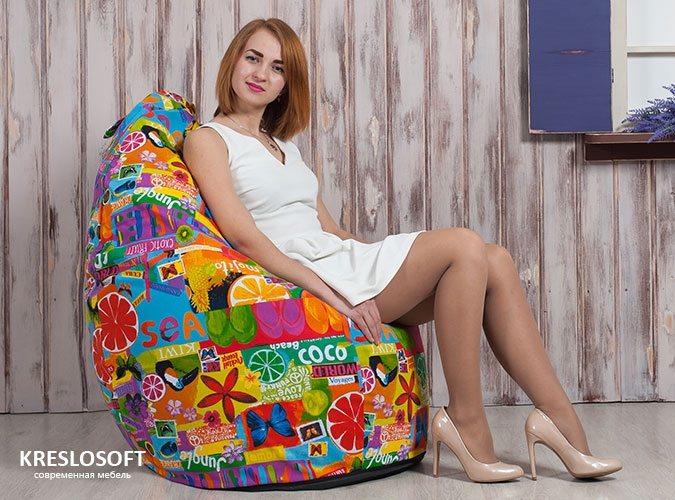 Кресло-мешок Груша Экзотик