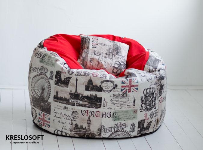 Кресло-мешок Пуф Пуф Челси и красный