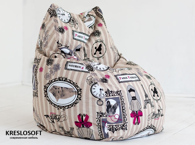 Кресло-мешок Кошка Париж