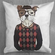 Подушки с принтом Собака в свитере