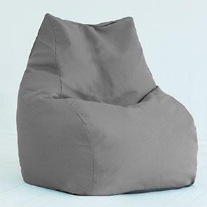 Кресло-мешок Кошка Серая Шенилл
