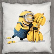 Подушки с принтом Миньон Банана!!!