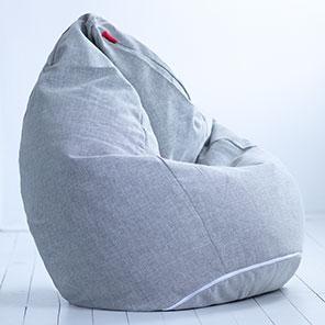 Кресло-мешок Груша Серая Шенилл
