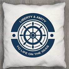 Подушки с принтом Капитан