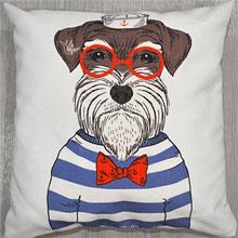 Подушки с принтом Собака моряк