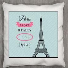 Подушки с принтом Люблю Париж