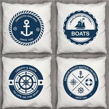 Подушки с принтом Капитан - коллекция