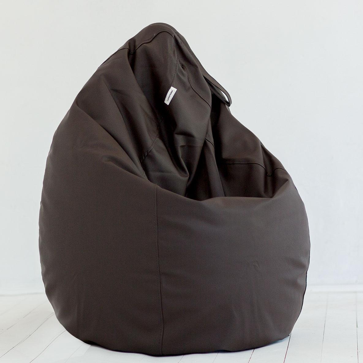 Кресло-мешок Груша Экокожа Шоколад
