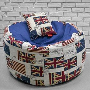 Кресло-мешок Пуф Пуф Британия с синим