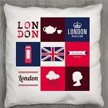 Подушки с принтом Лондон