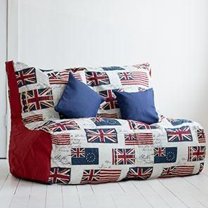 Бескаркасный Диван Британия и красный